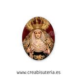 Cabuchón Cristal Religión - Virgen de la Soledad