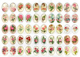 50 Imágenes vintage de Rosas 18x25mm