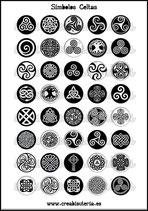 Lámina Imágenes de Símbolos Celtas Blanco y Negro  II