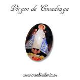 Cabuchón Cristal Religión - Virgen de Covadonga - Manto Azul