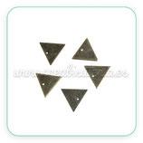 Charm mini - 001 - de cobre triángulos C84183 (10 unidades)