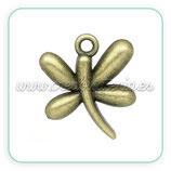 Charm Libélula bronce antiguo CHAOOO-C02786 - 10 unidades