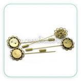 Broche - alfiler filigrana base 15mm BROOOO-C20651