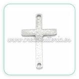 CONECTOR/B/003-cruz plata antigua peque CONOOO-C25063 (5 unidades)