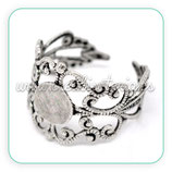 Anillo base ajustable ornamental plata vieja ANIOOO-C14899