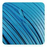 Cuero imitación cuero  plano azul 3x1mm - 5 metros