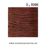 Cordón macramé Gama Deluxe 0,8mm  Color marrón  (5 metros)