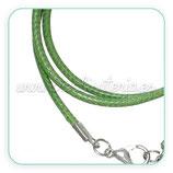 Correa collar algodón encerado 2mm verde oliva  COR-C64020