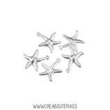 INOX - colgante estrella de mar  (10 unidades)