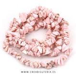 Abalorios Howlita Chips de color rosa claro C86 - tira de aproximádamente de 84cm