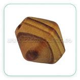 Madera abalorio bicono madera virgen 18x17 m oscura  MAD-PTB601Y(10 unidades)