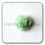 Cabuchón Resina Flor rosa verde CABOOO-L00