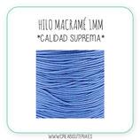 Cordón macramé 1mm  Calidad Suprema  Color Azul lavanda (5 metros)