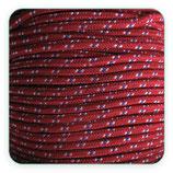 Cordón de Nylon de Escalada Redondo 3mm Granate y puntos azul y blanco (3 metros)
