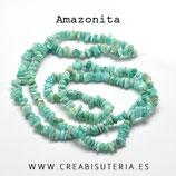 Abalorios Piedra natural Amazonita chips   (80 cm aprox.) AMAZ64