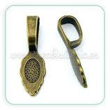 Util- Soporte para colgante bronce viejo Forma de cucharita ACCOTR-P0P9R071 (10 unidades)