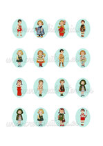 16 Imágenes Recortables M01 Dolly dingle 30x40mm