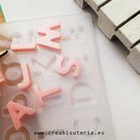 Molde de silicona , abecedario Letras rectas + Números / 15mm de alto  MSABC