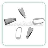 Util - Colgante clip grande plateado MATE ACCOTR-C0082363 - 20 piezas