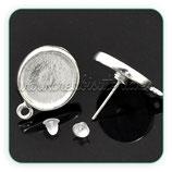 Pendientes base botón 13mm cab anilla (Un par) ACCBAS-C17782