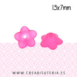 FLORLUCIT 25 -Flores color fucsia  13x7mm (16 Unidades)