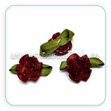 Adorno 10 Flores de tela color granate ADO-C10796