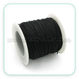 Cordón macramé 1mm 100 metros color Negro calidad extra* C030-1mm