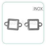 INOX - Conector acero inoxidable cuadrado hueco (2 unidades) C72732