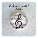 Cabuchón Cristal Music 002 (fondo blanco)