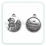 Charm medalla Primera Comunión niña IV COLOOO-R30634