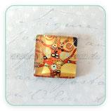 Cabuchón Cristal ilustrado El Árbol de la Vida  de Klimt 25mm CUADRADO
