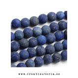 Abalorio piedra lapislazuli , redonda, esmerilada 4mm  (93 piezas aprox.)