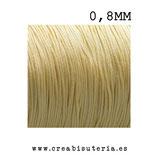 Cordón macramé Gama Deluxe 0,8mm  Color beis  (5 metros)
