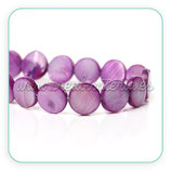 Concha en forma redonda 10x10mm color purpura (10 unidades) CONCH-C40323