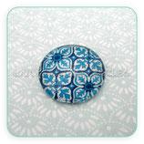 Cabuchón Cristal estampado geométrico azul CGAZUL