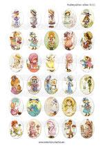 30 Imágenes de muñecas de ilustraciones de años 80III 30x40mm