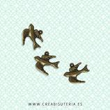 Charm ANIMALES - Pájaros - 6 - Golondrina mini-  (10 unidades)