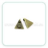 Charm mini - 004 - Triangulo anilla trasera C24040 (10 unidades)