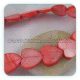 Concha abalorio en forma de corazón rojo  CONCH-Corazones (10 unidades)