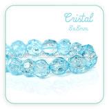Abalorio cristal facetado azul cielo 8mm ABA-C58081 (10 unidades)