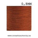Cordón macramé Gama Deluxe 0,8mm  Color cobre  (5 metros)