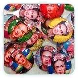 Lote Cabuchón Cristal estampado Frida Kahlo redondo (10 unidades)