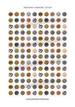 140 Imágenes de estampados de texturas animales 12x12mm