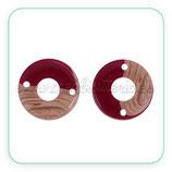 Aro Resina - Pieza redonda hueca  conectora . Imitación madera y color C797 (2 unidades)