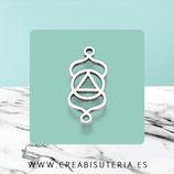 Conector Espiritual 1X - X -  pieza simbolo zen  Chakra Ajna C357* (10 unidades)