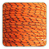 Cordón de Nylon de Escalada Redondo 3mm Naranja y puntitos negros  (3 metros)