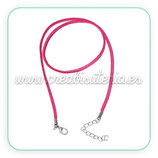 Correa collar antelina rosa  COR-C63467