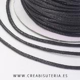 Cordón algodón encerado color Negro 1,5mm (4 metros)