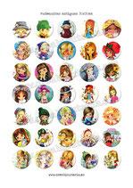 35 Imágenes de muñecas antiguas 30x30mm
