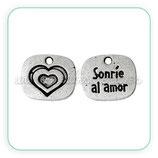 "Charm mensajito ""sonrie al amor"" (10 unidades) CHAOOO-C53801"